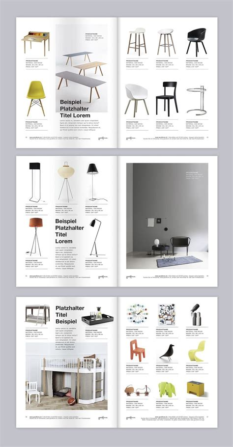 brochurecatalog minimalist style layout  furniture