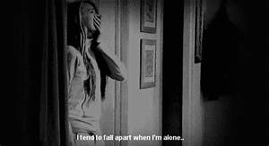 quote Black and White depression lonely pain alone edit ...