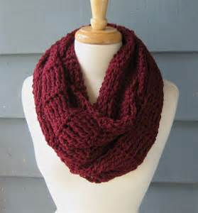 Maroon Knit Infinity Scarf