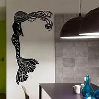 trending mermaid wall decals Mermaid Wall Decal Hair Girl Sea Ocean Bathroom Spa Salon