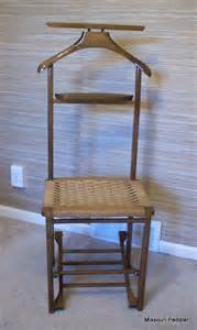 vintage men s valet butler chair folding wood chair