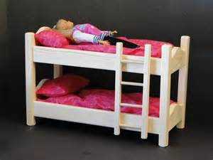 12 inch doll bunk bed with mattress 094