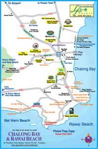 Thailand Map Phuket Beaches