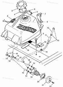 Polaris Atv 1998 Oem Parts Diagram For Fuel Tank Xplorer