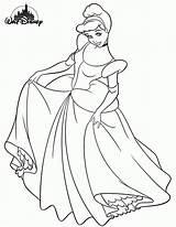 Coloring Princess Disney Pages Cinderella Popular sketch template