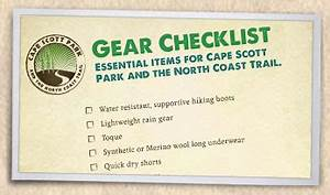 Camping Checklist Cape Scott Park And The North Coast Trail Gt Plan And