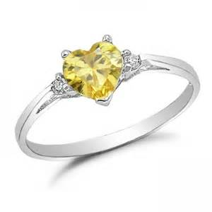 topaz engagement ring sterling silver simulated yellow topaz engagement ring kriskate co