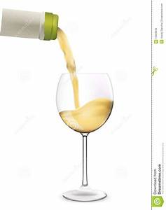 White Wine Pouring Into Wine Glass. Stock Images - Image ...