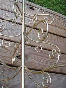 gold tone metal large ornament display tree jewelry 22 quot 12 branches stand