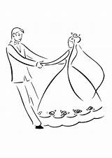 Groom Bride Coloring Mat Drawing Dance Pages Printable Easy Getcolorings Instant Place Getdrawings Utilising Button sketch template