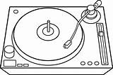 Dj Turntable Clipart Table Line Record Clip Player Turn Transparent Sweetclipart Turntables Marshmello Drawings Jockey Disc Phonographe Disque Coloriage Livre sketch template