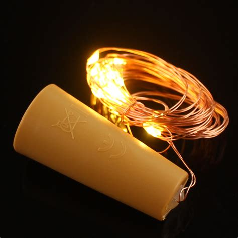 bottle 20 led copper wire string light with stopper 2m