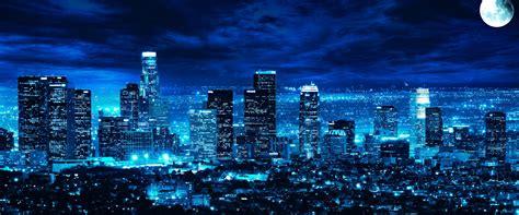 los angeles skyline night time  retina ultra hd