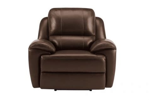 Finley Electric Reclining Armchair, Light Brown Leather