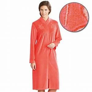 Tenue Interieur Femme Velours : robe de chambre coralia acheter tenues d 39 int rieur ~ Teatrodelosmanantiales.com Idées de Décoration