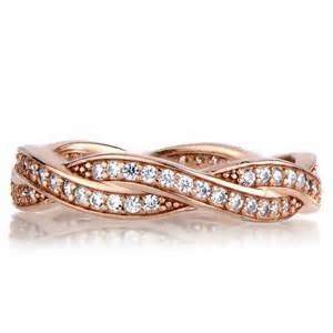 twisted wedding band devera 39 s gold twisted cz wedding ring band