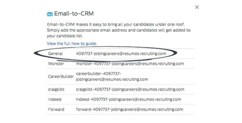 how to use email to crm