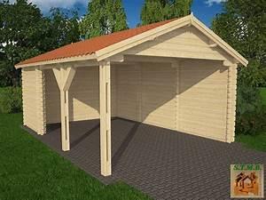 construire garage bois toit plat evtod With construire garage bois toit plat