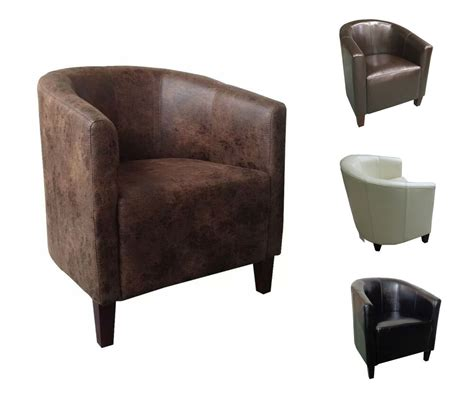 Leather Dining Armchair by Fabric Leather Tub Chair Sofa Armchair For Dining Living