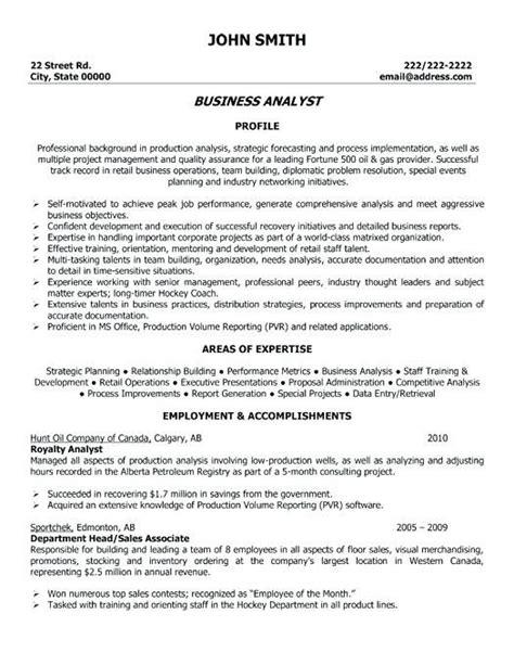Job descriptions & responsibility samples inc. Sample Resume Business Data Analyst