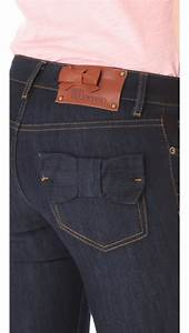 valentino bow pocket in denim blue lyst