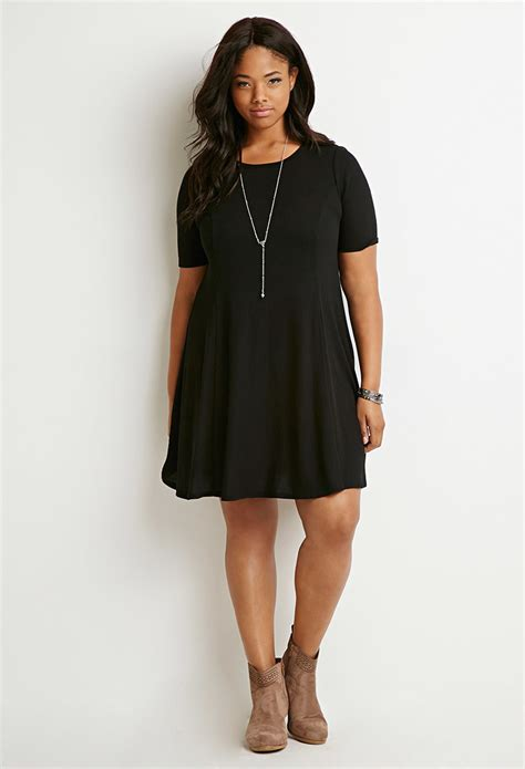 forever 21 sweater dress forever 21 ribbed sweater dress in black lyst