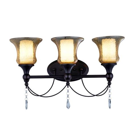 bronze vanity light hton bay 2 light rubbed bronze vanity light
