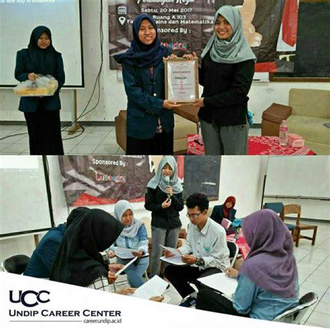 hmj biologi undip  ucc mengadakan seminar job gate