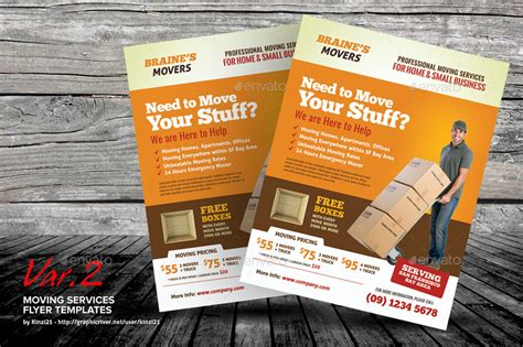 Moving Services Flyer Templates By Kinzi21 Graphicriver