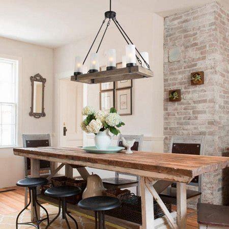 lnc rustic linear kitchen island wood chandelier charcoal