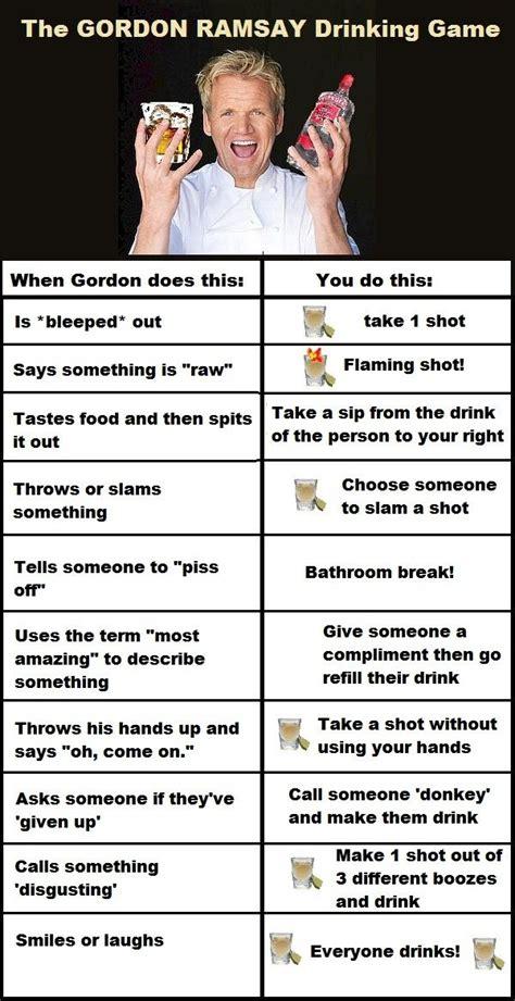 gordon ramsay drinking game id    coma
