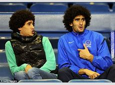 Manchester United midfielder Marouane Fellaini enjoys
