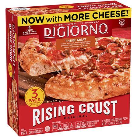 digiorno rising crust  meat pizza  oz  pk
