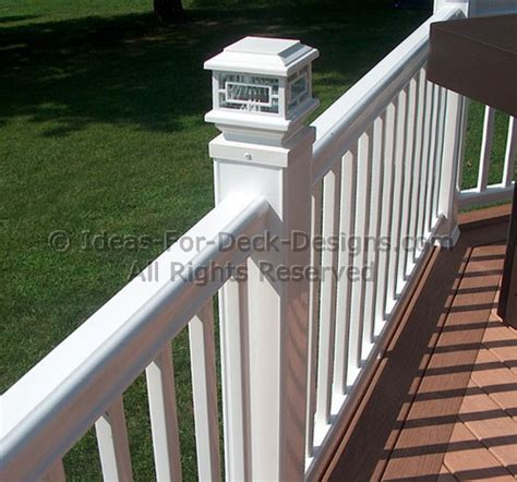 banister post tops deck railing ideas styles for top and bottom rails