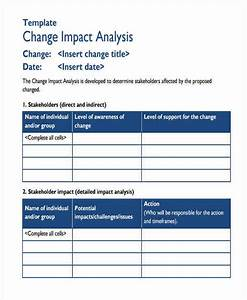 change impact assessment template - 8 impact analysis examples in word pdf sample templates