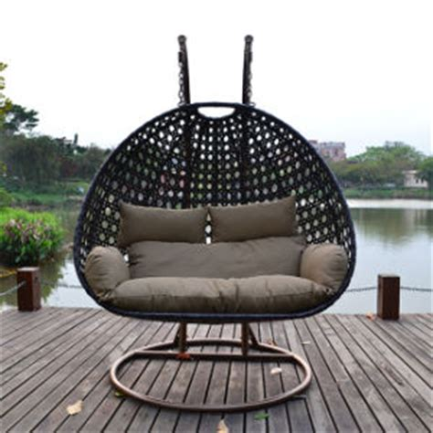 china outdoor rattan wicker hanging swing chair