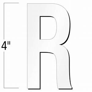4 inch die cut magnetic letter r white sku nl mg 4 wt r With die cut magnetic letters