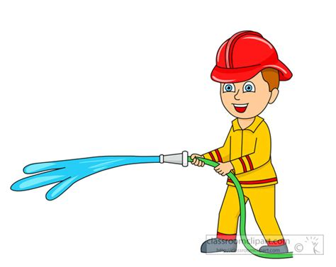 Fireman-with-water-coming-out-of-fire