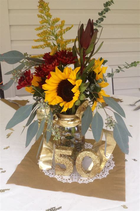 50th Wedding Anniversary Centerpiece Anniversary