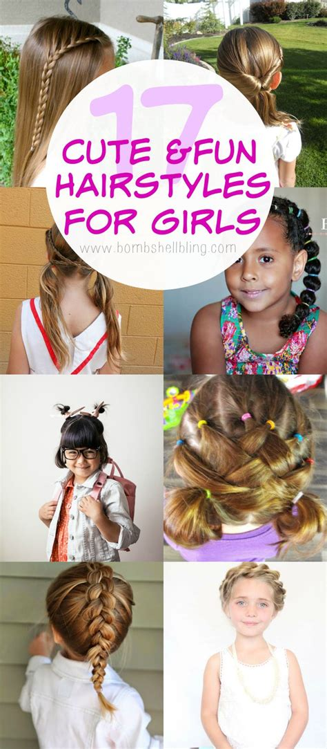 cute fun hairstyles  girls  girl