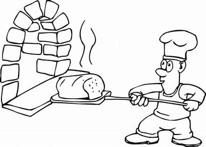 Cooking Coloring Pages Bake Baking Printable Bread