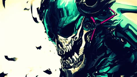 Cool 3 Monitor Backgrounds Skeleton With Headphones Wallpaper