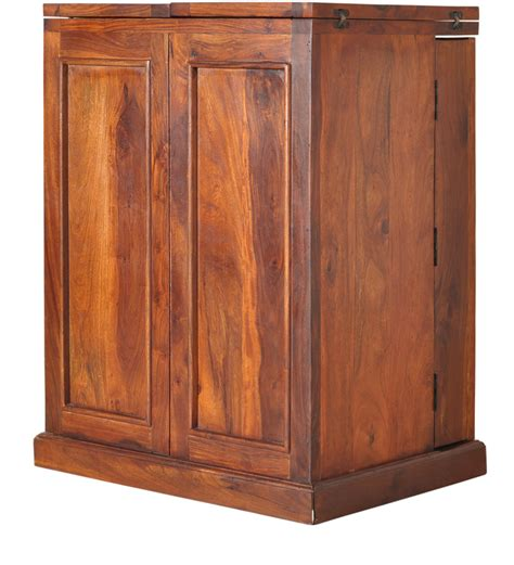 solid wood bar cabinet montevideo solid wood bar cabinet in honey oak finish by