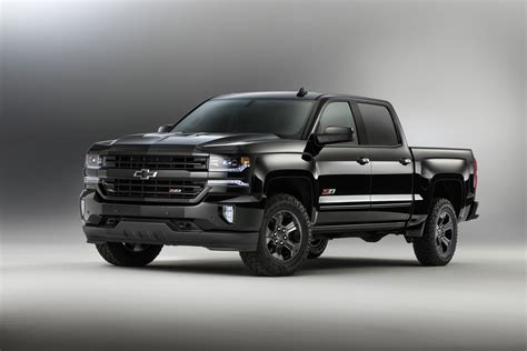 Chevy Gives 2016 Pickup Lineup The Blacked-out 'midnight