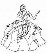Coloring Dance sketch template
