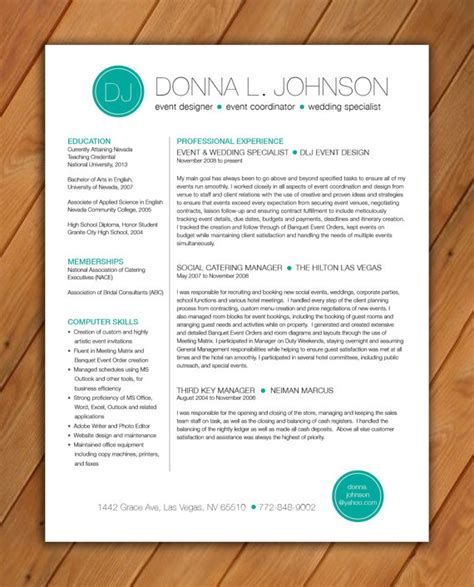 colorful resume template free custom resume template color circle initials by rbdesign2 on etsy 35 00 templates