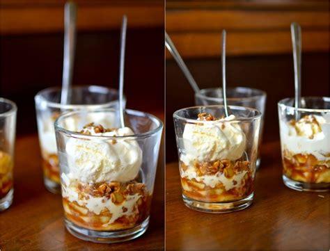 herbst dessert im glas  einfache rezepte mit aepfeln