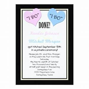 after wedding party invitations announcements zazzle With wedding party invitations after getting married abroad