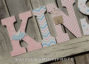 princess cinderella letters custom nursery wooden letters With custom nursery letters