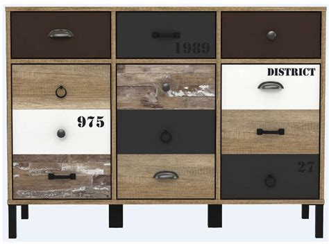 rangement 3 portes 3 tiroirs oldy vente de buffet bahut vaisselier conforama